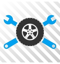 Tire Service Wrenches Icon vector image