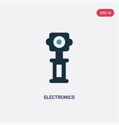Two color electronics icon from museum concept vector