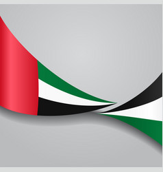 United arab emirates wavy flag vector