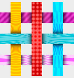 vertical and horizontal colorful banners vector image