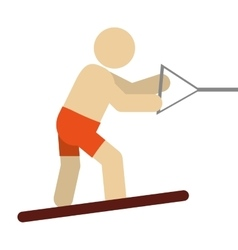 water skiing pictogram icon vector image
