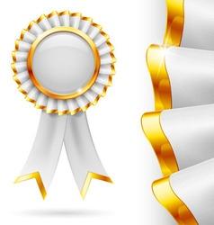 White award ribbon vector