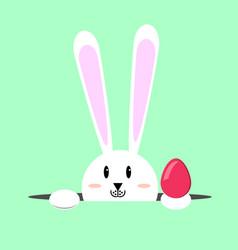 White easter rabbit easter bunny vector
