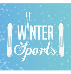 Winter sports design vector