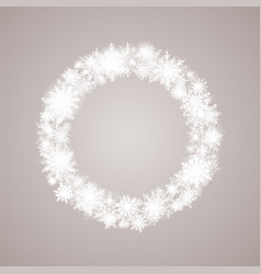 winter wreath snowflakes new year or christmas vector image