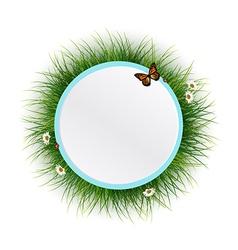Floral frame grass background vector image