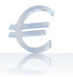 Frozen euro vector image