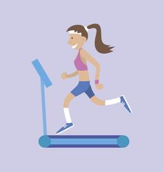 girl running vector image