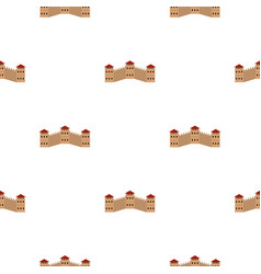 majestic great wall of china pattern seamless vector image vector image