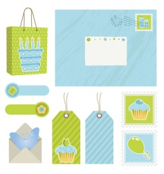 postage icons vector image vector image