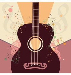 Retro Guitar Poster vector image