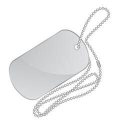 silver identity tag vector image