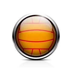 Water polo ball icon vector image