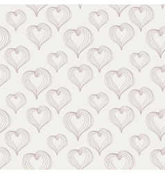 Abstract Hearts on a light background vector image