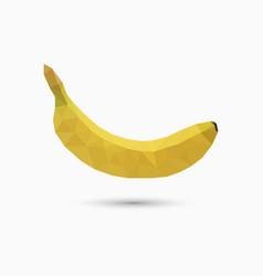 banana in polygonal style vector image vector image