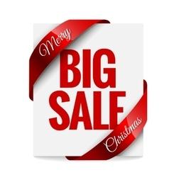 Big Christmas sale Label vector image