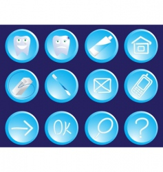 dentist icons vector image vector image