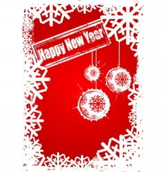 happy new year grunge vector image