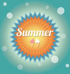 Summer holiday card vector
