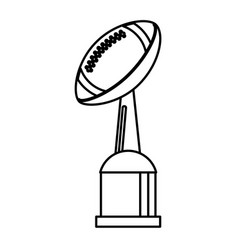 award cup american football sport outline vector image vector image