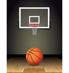 Basketball Court Ball and Hoop vector image vector image