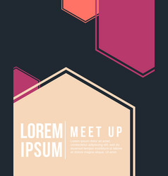 cool colorful background meet up card collection vector image
