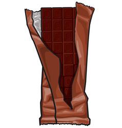 dark chocolate bar vector image vector image