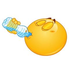 drinking water emoticon vector image vector image