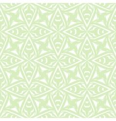 Geometric art deco vintage pattern in white vector image