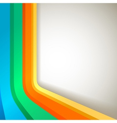 retro colorful banner vector image vector image