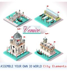 Venice 03 Tiles Isometric vector image vector image