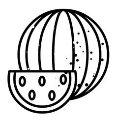 cartoon image of watermelon icon summer symbol vector image vector image