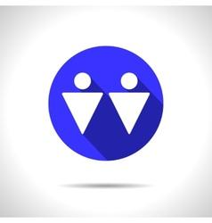 homosexual couple icon Eps10 vector image
