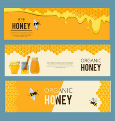 horizontal banners with pictures set of apiary vector image vector image
