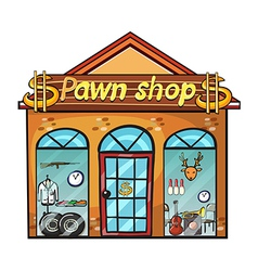 Pawnshop on a white background vector image vector image