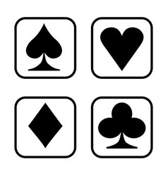 playing card isolated on white background vector image