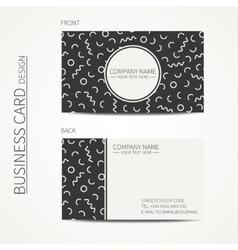 Simple business card design memphis style vector