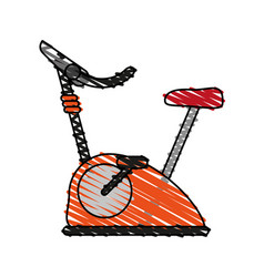 Stationary spinning bike exercise equipment icon vector