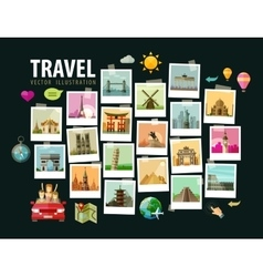 Travel vacation logo design template vector