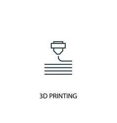 3d printing concept line icon simple element vector