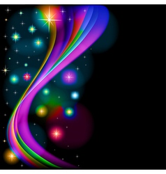 Abstract background with glowing vector