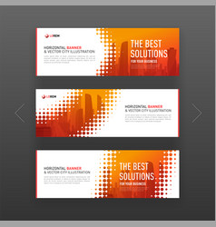 Abstract corporate horizontal web banners set vector