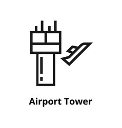 airport tower line icon vector image