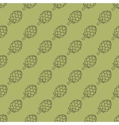 artichoke green seamless pattern vector image