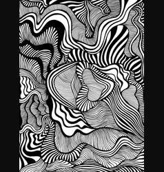 artistic line art maze ornaments coloring page vector image