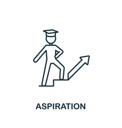 Aspiration icon from education collection simple vector