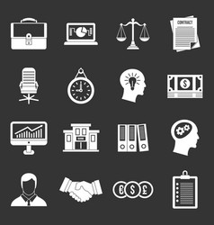 Banking icons set grey vector