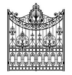 Black forged gate vector