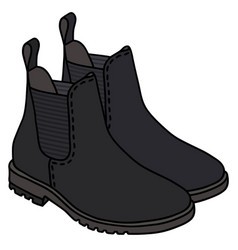 Black pear boots vector