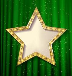 Blank golden star vector